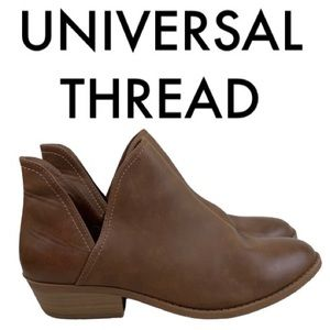 UNIVERSAL THREAD BROWN BOOTIES SIZE 11